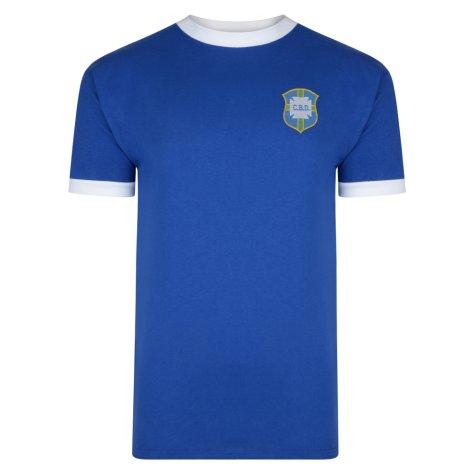 Score Draw Brazil 1970 World Cup Away Final No10 Shirt