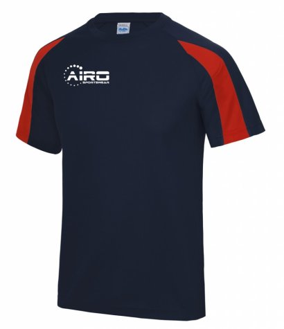 Airo Sportswear Contrast Training Tee (Navy-Red)