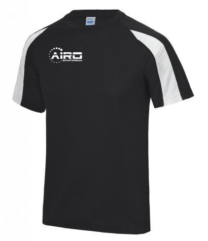 Airo Sportswear Contrast Training Tee (Black-White)
