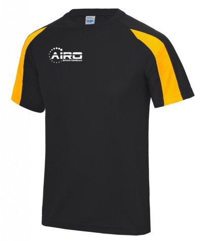 Airo Sportswear Contrast Training Tee (Black-Gold)
