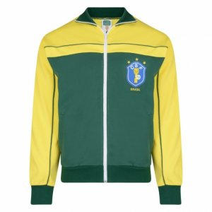Score Draw Brazil 1986 World Cup Finals Track Jacket (Yellow)