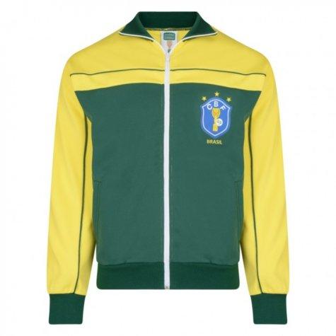 Score Draw Brazil 1986 World Cup Finals Track Jacket (Yellow)