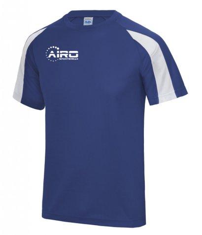 Airo Sportswear Contrast Training Tee (Royal Blue-White)