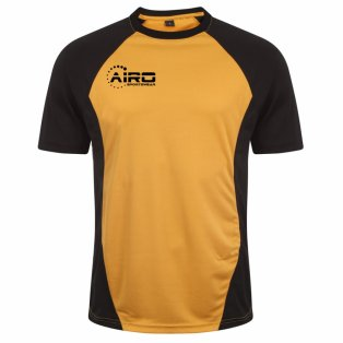 Airo Sportswear Player Training Tee (Amber-Black)