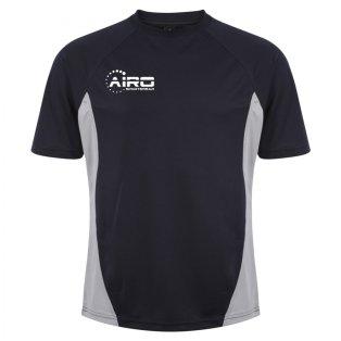 Airo Sportswear Player Training Tee (Navy-Silver)