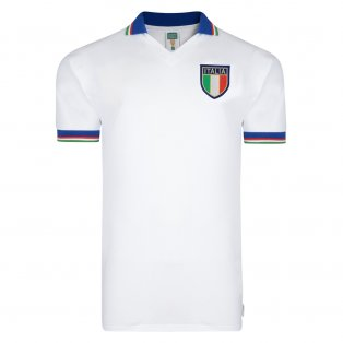 Score Draw Italy 1982 World Cup Final Away Shirt