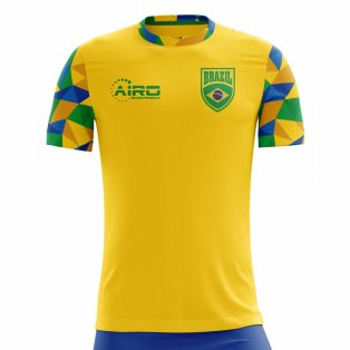 2018-2019 Brazil Home Concept Football Shirt - Little Boys
