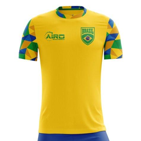 2018-2019 Brazil Home Concept Football Shirt (Kids)