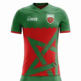 2020-2021 Morocco Home Concept Football Shirt - Womens
