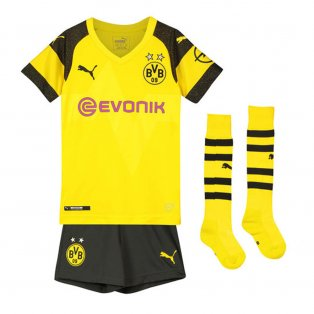 2018-2019 Borussia Dortmund Home Little Boys Mini Kit