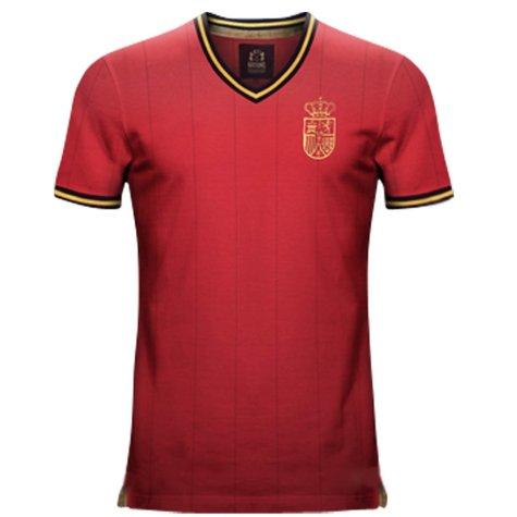 Vintage Spain Home Soccer Jersey