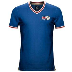 Vintage Iceland Home Soccer Jersey