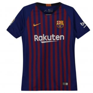 2018-2019 Barcelona Home Vapor Match Nike Shirt (Kids)