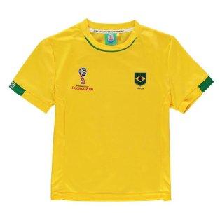 Brazil FIFA World Cup 2018 Poly T Shirt (Yellow) - Kids