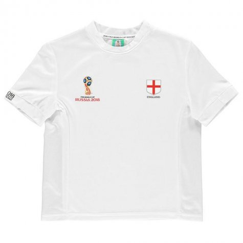 England FIFA World Cup Russia 2018 Poly T Shirt (White)- Kids