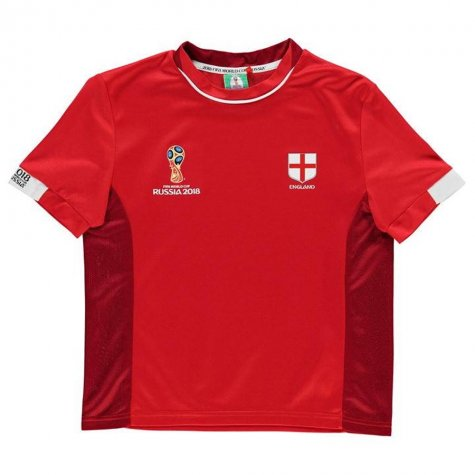 England FIFA World Cup Russia 2018 Poly T Shirt (Red)- Kids