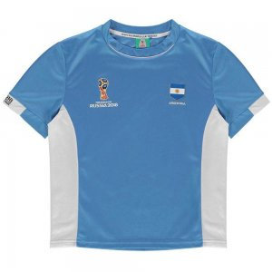 Argentina FIFA World Cup 2018 Poly T Shirt (Blue) - Kids