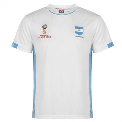 Argentina FIFA World Cup 2018 Poly T Shirt Mens (White)