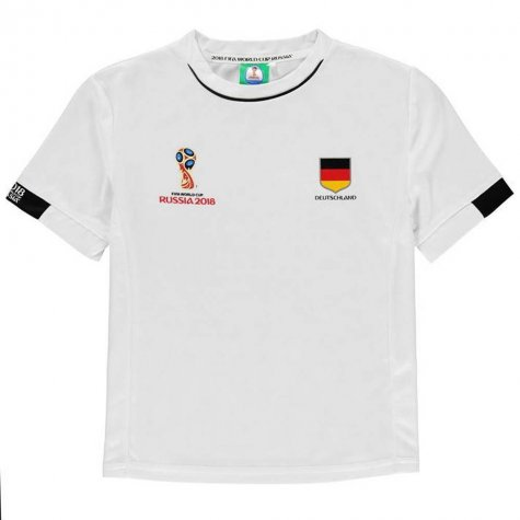 Germany FIFA World Cup 2018 Poly T Shirt (White) - Kids