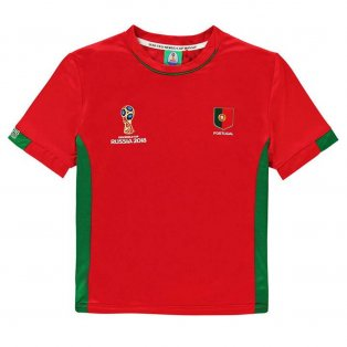 Portugal FIFA World Cup 2018 Poly T Shirt (Red) - Kids