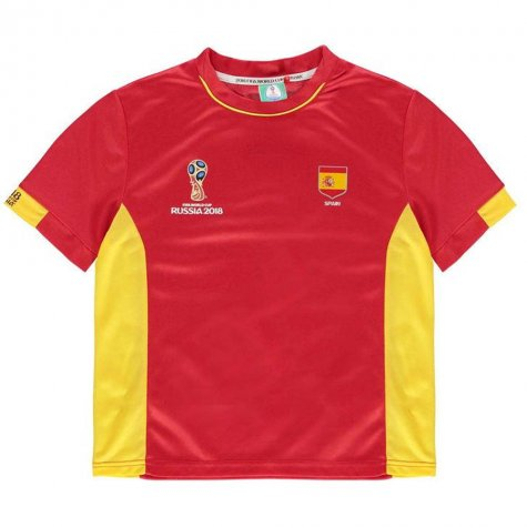 Spain FIFA World Cup 2018 Poly T Shirt (Red) - Kids
