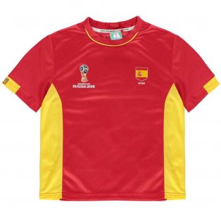 Spain FIFA World Cup 2018 Poly T Shirt (Red) - Infants