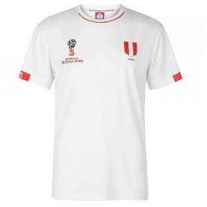 Peru FIFA World Cup 2018 Poly T Shirt Mens (White)