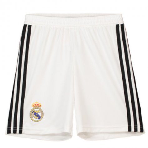 19cb2599f7 2018-2019 Real Madrid Adidas Home Shorts (White) - Kids  CG0549 ...