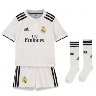 3d6d3f74d 2018-2019 Real Madrid Adidas Home Full Kit (Kids)