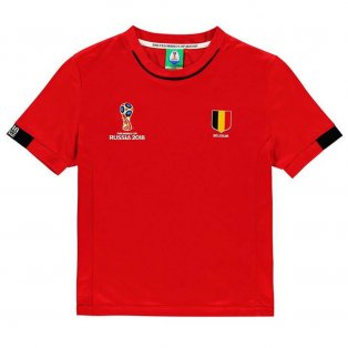 Belgium FIFA World Cup 2018 Poly T Shirt (Red) - Kids