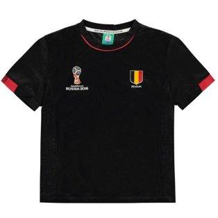 Belgium FIFA World Cup 2018 Poly T Shirt (Black) - Kids