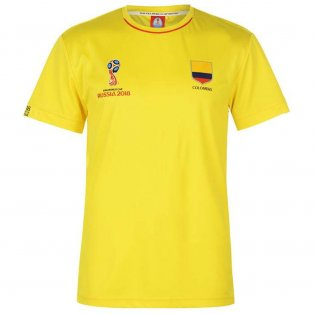 Colombia FIFA World Cup 2018 Poly T Shirt Mens (Yellow)