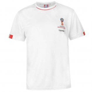 Tunisia FIFA World Cup 2018 Poly T Shirt Mens (White)