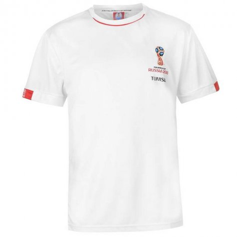 c71432597b3 Tunisia FIFA World Cup 2018 Poly T Shirt Mens (White) [] - Uksoccershop