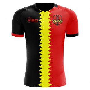 2018-2019 Belgium Flag Concept Football Shirt (Kids)