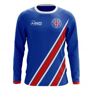 2020-2021 Iceland Long Sleeve Home Concept Football Shirt