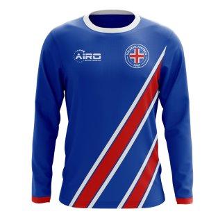 2018-2019 Iceland Long Sleeve Home Concept Football Shirt (Kids)