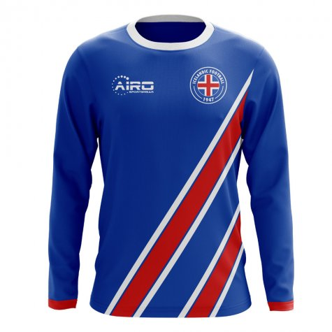 2020-2021 Iceland Long Sleeve Home Concept Football Shirt (Kids)
