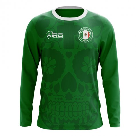 2018-2019 Mexico Long Sleeve Home Concept Football Shirt  MEXICOLSH ... 59067aa1b