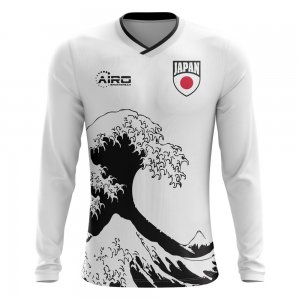 2018-2019 Japan Long Sleeve Away Concept Football Shirt (Kids)