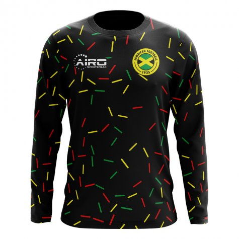2018-2019 Jamaica Long Sleeve Third Concept Football Shirt