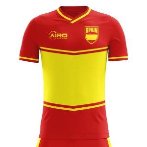 2018-2019 Spain Flag Home Concept Football Shirt - Little Boys