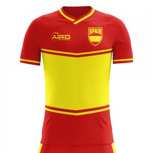 2018-2019 Spain Flag Home Concept Football Shirt (Kids)