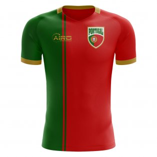 2018-2019 Portugal Flag Home Concept Football Shirt - Womens