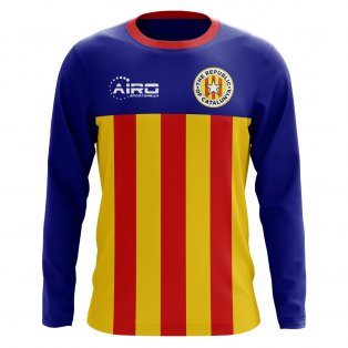 2020-2021 Catalunya Long Sleeve Home Concept Football Shirt