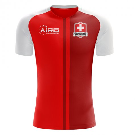 2020-2021 Switzerland Home Concept Football Shirt - Little Boys