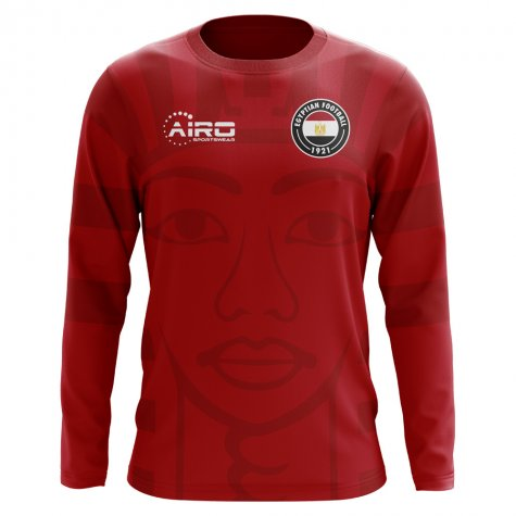 2020-2021 Egypt Long Sleeve Home Concept Football Shirt (Kids)