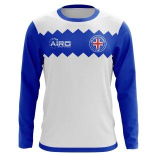 2020-2021 Iceland Long Sleeve Away Concept Football Shirt (Kids)