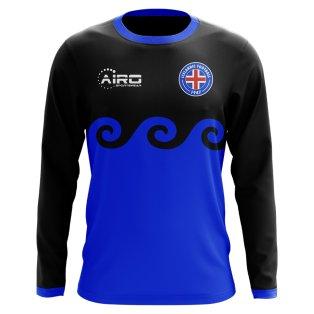 2018-2019 Iceland Long Sleeve Third Concept Football Shirt (Kids)