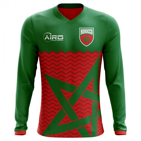 2018-2019 Morocco Long Sleeve Home Concept Football Shirt (Kids)